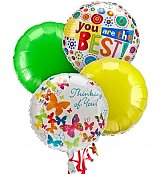 Balloons: Balloon Bouquet-4 Mylar