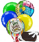 Balloons & Chocolate: Get Well Balloons & Chocolates-5 Mylar
