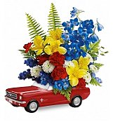 Flower Bouquets: '65 Ford Mustang Bouquet