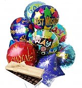 Balloons & Chocolate: Congratulations Balloons & Chocolate-12 Mylar